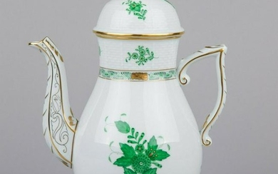 Herend Chinese Bouquet Green Large Teapot #611/AV