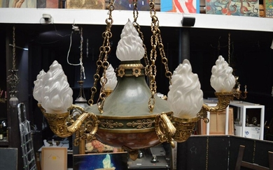 Important LouisXVI style chandelier circa 1880 with 7...