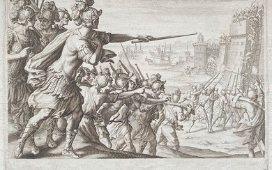 Jacques Callot (1592-1635) from Matteo Rosselli (1578-1650) BONA SIEGE Etching,...
