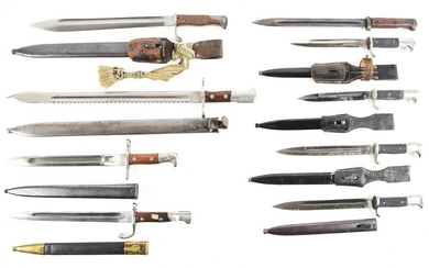 LOT OF 9: GERMAN MILITARY AND CONTRACT BAYONETS.