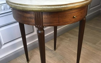 LOUIS XVI MAHOGANY QUERIDON WITH MARBLE INSET TOP