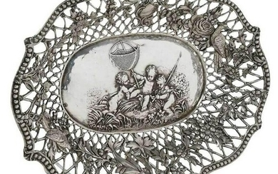 Late 19th C. Continental Silver Openworked Bowl