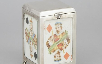 Late Victorian Silver Playing Cards Box, Cohen &