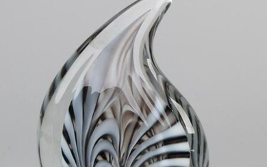 Modern glass sculpture. Signed Blommers 2004. Glass