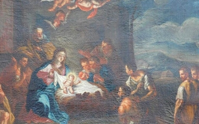 OLD MASTER (XVIII). Holy night. Adoration by the