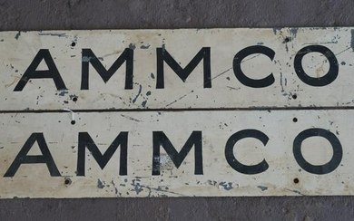 Pair AMMCO Automobile Steel Painted Signs