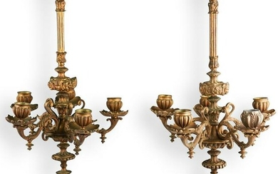 Pair Of Napoleon iii Gilt Bronze Sconces