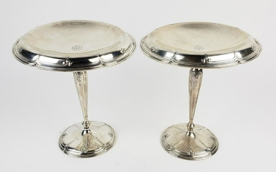 Pair of Sherve & Co. Sterling Silver Weighted Tazzas