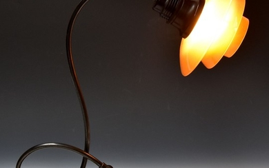 Poul Henningsen. 'PH-2/2 Piano Lamp' with amber-coloured glass, 1940s