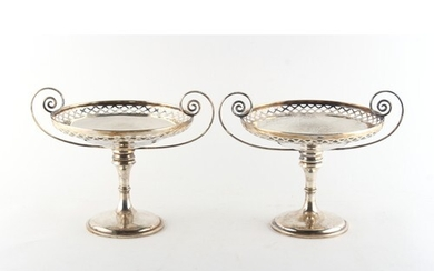 Property of a deceased estate - a pair of silver early 20th ...