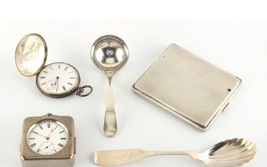 Property of a lady - two silver pocket watches, one in base ...