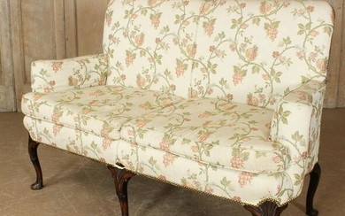 Queen Anne Style Upholstered Couch