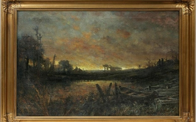ROBERT HOPKIN OIL ON CANVAS, ROUGE RIVER