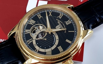 Riedenschild Germany -Luxury automatic open heart gold plated+ free omega style strap - Men - 2019