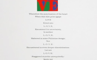 Robert Indiana, Love Poem - Wherefore the Punctuation