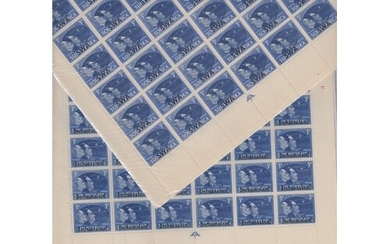 STAMPS : 1945 VICTORY, complete sheets of 60 sets for issues...