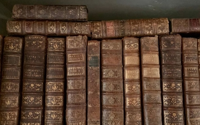 Set of bound volumes from the 18th century,...