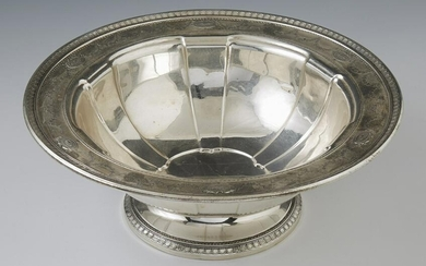 Sterling Silver Footed Lobed Center Bowl, 20th c., #