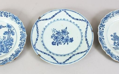 THREE 19TH CENTURY CHINESE BLUE & WHITE PORCELAIN