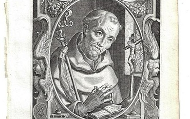 TWO 1634 Fine Engraving by Galle of Saints