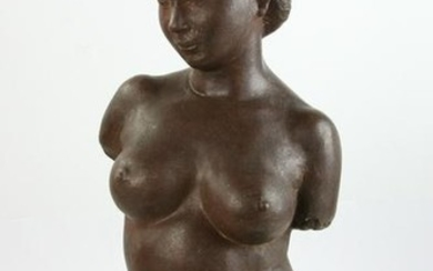 Terracotta Nude Bust of a Woman