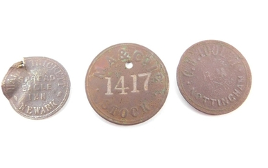 Three Georgian tokens, comprising Mark Trickett, Spread Eagl...