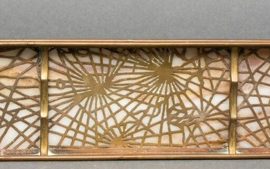 "Tiffany Studios ""Pine Needle"" Bronze Pen Tray"
