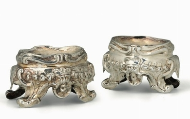 Two silver salt bowls, Rome, 1700s