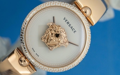 Versace - Palazzo Empire White DialRose Gold Swiss Made - VCO110017- Unisex - Brand New
