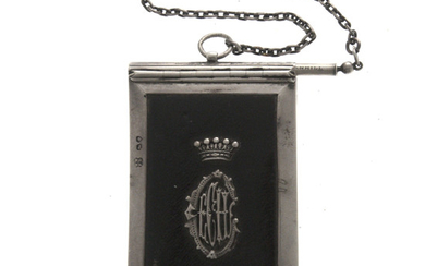 Victorian Sterling Silver Aide Memoire, Wright & Davies, London, England, 1873.