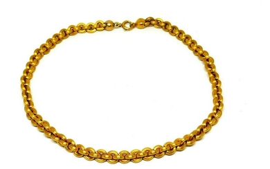 Vintage 18k Yellow Gold Textured Chain Necklace