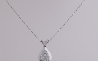 White gold necklace with pendant, 750/000, with