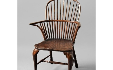 YEWWOOD AND ELM WINDSOR CHAIR late 18th or early 19th centu...
