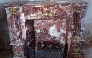 fireplace frame - Marble - Second half 20th century