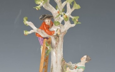 porcelain group, Meissen, around 1900, Model no....