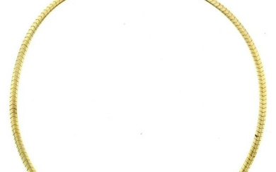 14K Yellow Gold Necklace by Jabel with 18K Yellow Gold