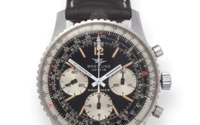 A Stainless Steel Chronograph Wristwatch, signed Breitling, Geneve, model: Navitimer,...