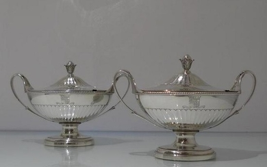 18th Century Antique George III Sterling Silver Pair