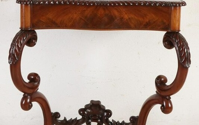 19th century mahogany wall console table with