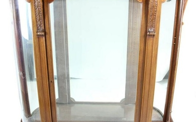 Mahogany and Curved Glass China Cabinet