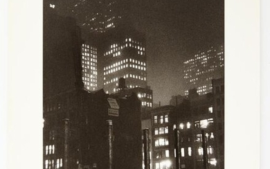 FAURER, LOUIS (1916-2001) Construction Site, Madison Avenue Looking Towards Rockefeller Center