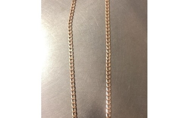 """9ct yellow gold curb chain, 20"""" in length and weight 21g"""