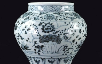 A Chinese Blue and White Porcelain Pot.