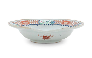 A Chinese Export Famille Rose Porcelain Barber's Basin