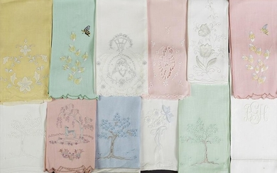 A Collection of Fine Linen Hand Towels.