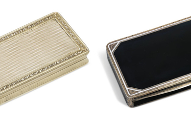 A GEORGE IV SILVER SNUFF-BOX AND A VICTORIAN SILVER SNUFF-BOX, THE FIRST MAKER'S MARK INDISTINCT, LONDON, 1828/1829, THE SECOND MARK OF THOMAS SHAW, BIRMINGHAM, 1837