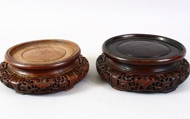 A GOOD PAIR OF 19TH CENTURY CHINESE CARVED HARDWOOD