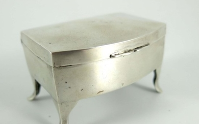 A George V silver miniature novelty jewellery casket, Herber...
