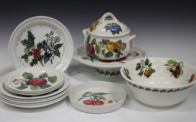 A mixed group of Portmeirion tablewares, mostly Pomona pattern, including two tureens and covers, se