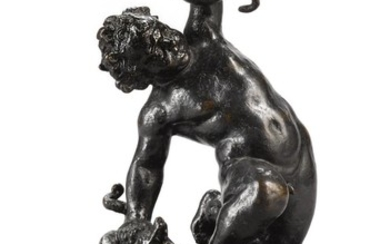 ATTRIBUTED TO FRANCESCO FANELLI (1577- AFTER 1641), ANGLO-ITALIAN, 17TH CENTURY | INFANT HERCULES STRANGLING TWO SERPENTS